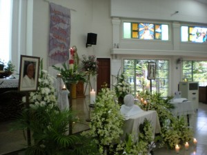 The urn with ashes of Sr. Mary Assumption Ocampo RGS