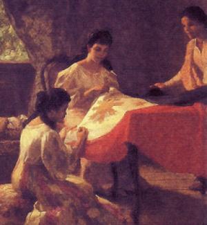 Fernando Amorsolo Paintings Making Of The Philippine Flag