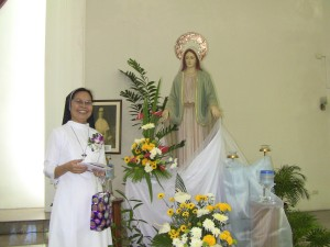 File Photo: Sr. Celeste during her Silver Jubilee on October 7, 2013.