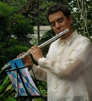 Ray Sison, principal flutist of Manila Symphony Orchestra