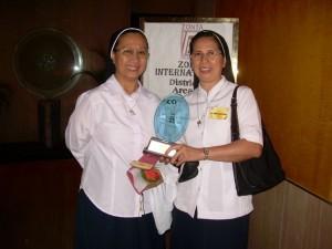 Sr. Amelia David RGS (left) and Sr. Teresa Danganan RGS